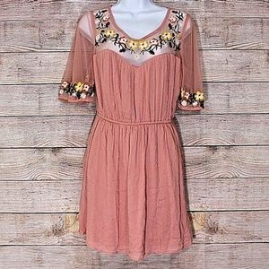 True Destiny Large L Embroidered Dress
